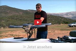 Quadrocopter mit Maschinengewehr